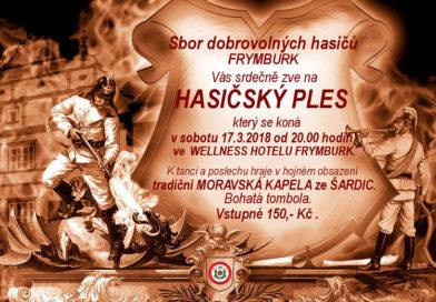 Hasičský ples 2018